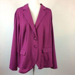 Torrid Purple Button Blazer Womens Plus 4X